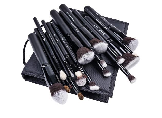 makeup bag with brush holder